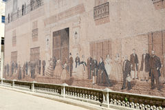 Mural near Plaza de Cathedral in Old Havana Royalty Free Stock Image