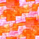 Mural orange squares on a pink background background seamless pa Stock Photos