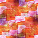 Mural orange squares on a pink background Stock Image