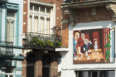 Mural painted on the facade of a building Royalty Free Stock Photos
