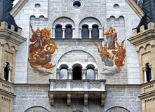 Mural painting. Bavaria, germany royalty free stock images
