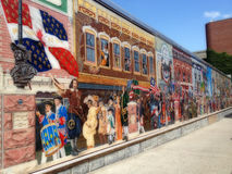 Mural painting: Everyone loves a parade! Stock Photography