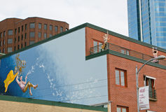 Mural Painting and Fun Mannequins in Seattle Royalty Free Stock Images