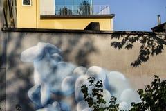 Mural painting in Milan Stock Photos