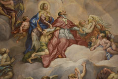 Mural painting - Pray Royalty Free Stock Image