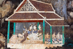 Mural painting in Royal palace in Phnom Penh, Cambodia Stock Images
