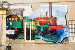 Mural Painting in Saludecio Stock Images