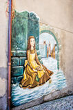 Mural Painting in Saludecio Stock Photography