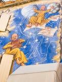 Mural Painting in Saludecio Stock Images