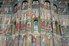 Mural painting from Sucevita Monastery Royalty Free Stock Image