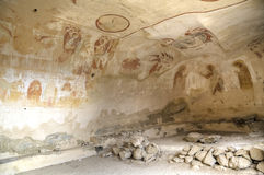 Mural painting 13th century, David Gareja and Udabno monastery Stock Images