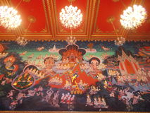 Mural painting - Thailand stock photo