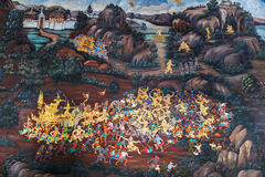 Free Mural Paintings At Wat Phra Kaew, Bangkok Royalty Free Stock Photo - 54874595