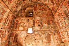 Mural paintings in Cavusin church  Turkey Royalty Free Stock Photo