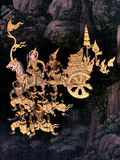 Mural paintings on exterior wall of king palace Bangkok Thailand. Mural paintings on exterior wall of king palace Stock Photo