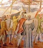 Mural paintings of the Monastery of La Rabida, Huelva, Spain Stock Photography