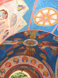 Mural paintings of The Svyatogorsk Dormition Laura. The mural paintings of Church of the Intercession of The Svyatogorsk Dormition Laura. (Laura is the monastery royalty free stock image