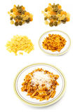 Mural pasta meal types Royalty Free Stock Photography