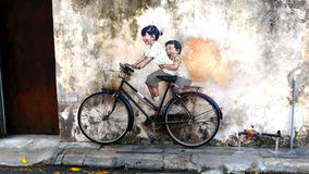 Mural in Penang Malaysia Stock Images