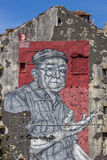 Mural in Porto by street artist Frederico Draw Stock Image