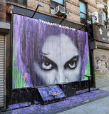 Mural Of Prince. Mural to honor American singer and songwriter Prince, can be seen at  the Graffiti room at Mott St, New York Stock Photo
