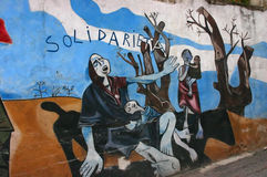 Mural: Protesting Sudan's genocide in Darfur Royalty Free Stock Photos