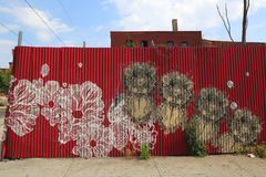 Mural in Red Hook section of Brooklyn Royalty Free Stock Image