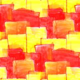 Mural red squares on a yellow background background seamless pat Royalty Free Stock Images
