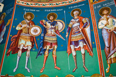 Mural religious paintings Stock Images