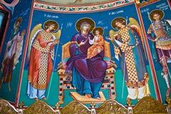 Mural religious paintings stock photo