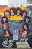 Mural republicano, Belfast, Irlanda del Norte fotografía de archivo