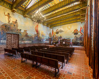 Mural Room. At the Santa Barbara County Courthouse on Anacapa Street in Santa Barbara, California Royalty Free Stock Image