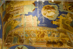 The mural in savior monastery of st.euthymias ,suzdal,russia. The mural in savior monastery of st.euthymias is taken in suzdal,russia stock image