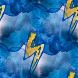 Mural seamless  pattern lightning background Stock Photography