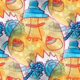 Mural seamless Sugar mechanism pattern background Royalty Free Stock Image
