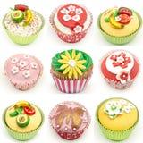 Mural of several cupcakes Royalty Free Stock Photos