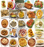 Mural of Spanish dishes Royalty Free Stock Photo
