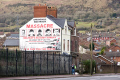 Mural of Springhill westrock massacre Stock Photography