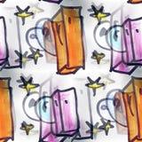 Mural stars background seamless pattern Stock Photo