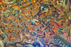 Mural tailandés antiguo imágenes de archivo libres de regalías