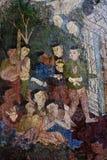 Mural tailandés del estilo Fotos de archivo
