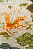 Mural tailandés del estilo Fotografía de archivo