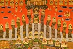 Mural Thaise stijl van de traditie Stock Afbeelding