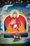 Mural Thangka painting of XII Dalai Lama Royalty Free Stock Photo