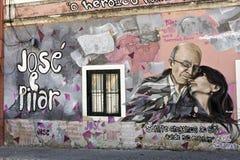 Mural to Saramago Royalty Free Stock Photography