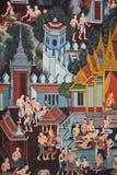 Mural tradicional tailandés imagenes de archivo