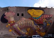 Mural un la Lodz Imagen de archivo libre de regalías