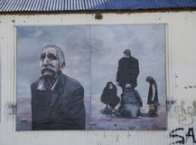 Mural τέχνη σε Ushuaia, Αργεντινή Στοκ εικόνα με δικαίωμα ελεύθερης χρήσης