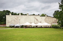 Mural in Valmiera town. Latvia Royalty Free Stock Photos