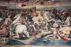 Mural in vatican Stock Images